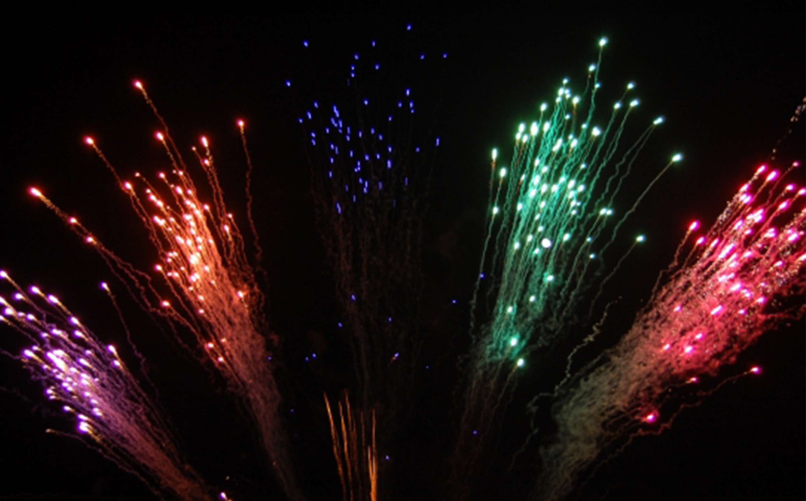 A Firework Solutions Limited display, with a multi-coloured fireworks